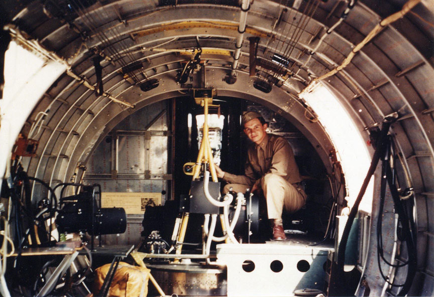 a Specially Equipped B-17  B17 Flying Fortress Interior